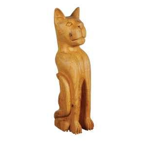 """MESTRE ANDRÉ DA MARINHEIRA - """"Gato"""" - Escultura em madeira. Assinada. - 52 cm"""