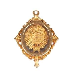 Relicário representando Nossa senhora em ouro 18K pesando 19g e medindo 4 cm. de altura peça de coleção -Brasil – Séc. XVIII/XIX.