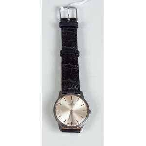 UNIVERSA GENEVE Relógio em aço inoxidável extra-chato masculino funcionando.