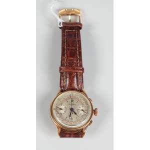 TAVANNES cronometro de ouro 18K masculino funcionando tampa de pressão.