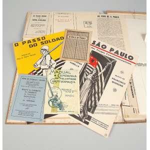 Coleção de jornais panfletos documentos sobre a revolução de 32, muito interessante em bom estado.