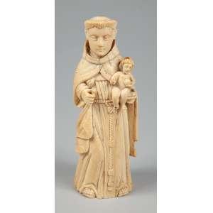 São José com menino Jesus imagem de Goa medindo 19 cm. de altura – Séc. XVIII.
