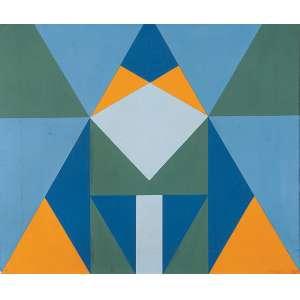 "JANDYRA WATER - ""Sem título"" - Óleo sobre tela -Ass.dat.2000 no verso . 45 x 54 cm."