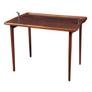 Mesa de chá em jacarandá e metal medindo 49 x 63 x 43 cm.