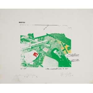 "REGINA VATER The carnival – Come to rest"" - Serigrafia - 2/20 - Ass.dat.1974, loc. N.Y. inf. dir. 35 x 43 cm."
