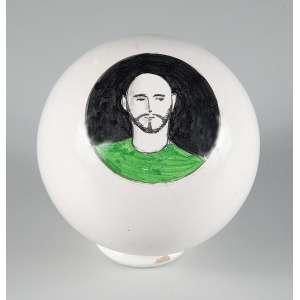 """ALEX CERVENY - """"Sem título"""" - Bola de cerâmica - Tamanho P. Com certificado de Autenticidade da Referência Galeria de Arte."""