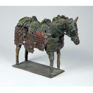 """FRANCISCO AGOSTINELLI - """"Cavalo"""" - Escultura em bronze - Assinada. 26 x 37 cm."""