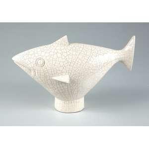 """GUIDO TOTOLI - """"Peixe"""" -Escultura em porcelana - Assinada. 26 x 40 cm."""