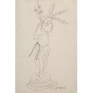 """""""Cristo"""" - Desenho a lápis sobre papel -Ass. inf. dir. 29 x 20 cm."""