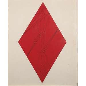 """JUDITH LAUAND - """"Concreto 139"""" - Desenho á nanquim sobre cartão colado em eucatex - Ass.dat.1958 inf. dir, ass.dat. no verso. - 45 x 36,5 cm - Reproduzido na pág.8 do catálogo da Exposição Judith Lauand """"Os Anos 50 e a Construção da Geometria"""" - Celso Fioravante realizada no I.A.C - 2015"""