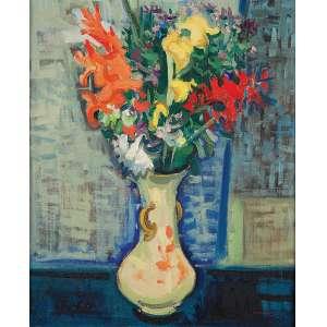 MABE - Vaso de flores - Óleo sobre tela - Ass.inf.dir. - 46 x 38,5 cm