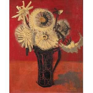 MABE - Vaso de flores - Óleo sobre tela - Ass.dat.1955 inf.dir. - 62 x 51 cm