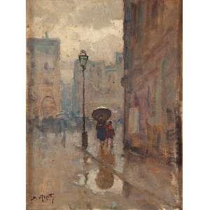 MECATTI - Paisagem de Paris - Óleo sobre tela - Ass.inf.esq. - 37 x 28 cm