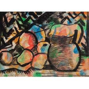 ALDO BONADEI - Natureza morta - Guache sobre papel - Ass.dat.1965 inf.esq. - 23,5 x 32 cm