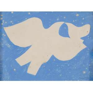MILTON DA COSTA - Pássaros - Guache sobre papel - Ass. dat.1963 inf.dir. - 12 x 16 cm - Ex.Coleção Sylvia Assumpção.