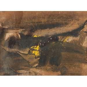 FLÁVIO SHIRÓ - Sem título- Técnica mista sobre papel - Ass.dat.1960 inf.dir. - 47 x 64 cm