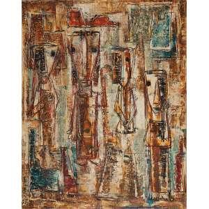ROSÁRIO MORENO - Sem título- Óleo sobre tela - Ass.inf.dir.,ass. no verso. - 91 x 72 cm
