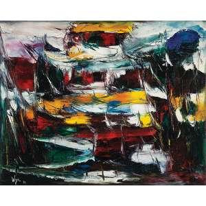 WEGA NERY - Sem título - Óleo sobre tela - Ass.dat.1970 inf.esq. - 80 x 100 cm - Obra com a tela plastificada no verso.