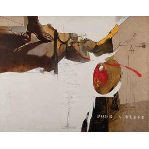 SÉRGIO FERRO - Peintre Et Modele n° 2- A.Dürer --Óleo sobre tela - Ass.tit.dat.1985, loc. Paris no verso. - 114 x 146 cm - Com etiqueta da Galeria São Paulo no verso.
