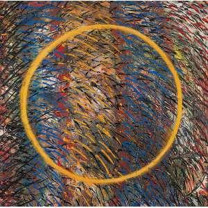 ARTUR BARRIO - Sem título- Óleo sobre tela - Ass. no verso. - 125 x 124 cm