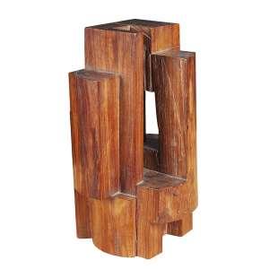 MIRABEAU SAMPAIO - Abstrato - Escultura em madeira,recortada e vazada. - 32,5 x 19 cm