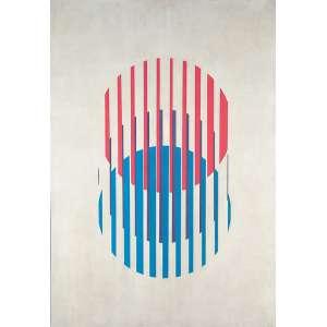 LOTHAR CHAROUX - Circulos - Óleo sobre eucatex - Ass.dat.1970 inf.dir. - 100 x 70 cm - Com carimbo do Museu de Arte Rio de Janeiro 1974.