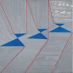 JUDITH LAUAND - Sem títuloÓleo sobre tela- Ass.dat.2009 inf.dir,ass.dat.no verso. - 79,5 x 79,5 cm