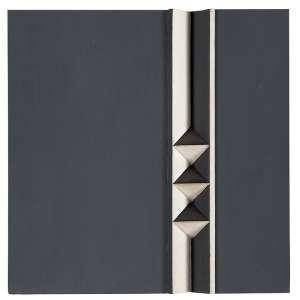 """JOAQUIM TENREIRO - """"Objeto"""" -Múltiplo 16/20 - Óleo sobre eucatex e madeira pintada - Ass.dat.1972 no verso. - 24 x 24 cm"""
