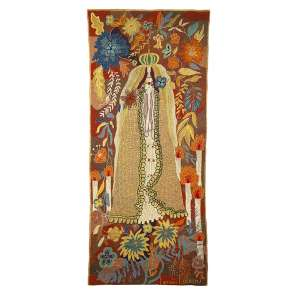 """CONCESSA COLAÇO - """"Nossa Senhora"""" -Tapeçaria - Ass. inf. dir, Ass.tit.dat.1960 no verso. 190 x 90 cm. - 190 x 90 cm"""