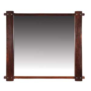 """SERGIO RODRIGUES - """"Azen - Espelho com estrutura em quatro peças em jacarandá e metal. - 91 x 105 cm"""