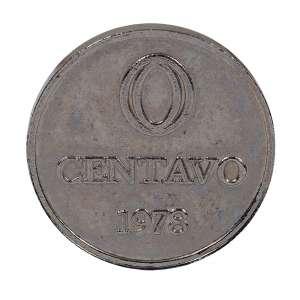 """CILDO MEIRELES - """"Zero centavos"""" - Moeda em metal - Assinada - 1978 . - 1,5 cm"""