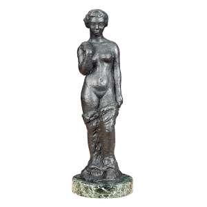 JOSÉ PEDROSA - Nu feminino - Escultura em bronze - assinada e numerada. - 39 x 11 x 9 cm