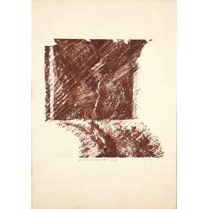 "MARIA BONOMI - ""Perro?? (Logicamente tua)"" - Xilogravura -28/100 – V/B - Ass.dat.1978 inf.dir. - 70 x 50 cm"