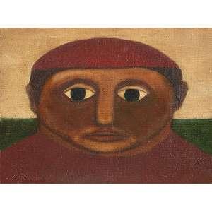 GERSON DE SOUSA - Pescador - Óleo sobre tela - ass. inf. esq., ass.tit.dat.1969 no verso. - 16 x 22 cm