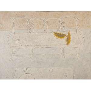"""FANG - """"Natureza morta II""""- Óleo sobre tela -Ass.dat.1979 no sup. esq. - 90 x 120 cm - Com etiqueta do Museu de Arte Moderna de São Paulo no verso."""