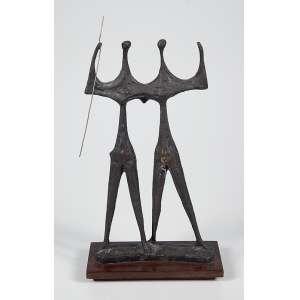 """BRUNO GIORGI - """"Candangos""""- Escultura em bronze -Assinada. - 27 x 14 cm"""