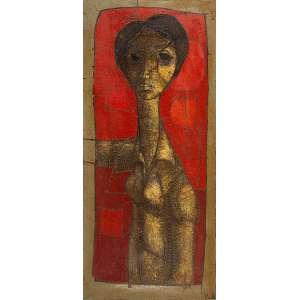 "INOS CORADIN - ""Mulher""- Óleo sobre tela - Ass. inf. dir. - 110 x 50 cm"