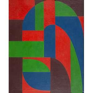 """ARNALDO FERRARI - """"Sem título"""" - Óleo sobre tela - Ass. no verso. - 96 x 78 cm - Ex. coleção Eduardo Azevedo."""