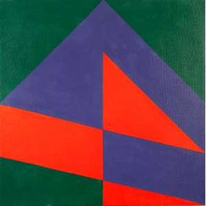"VALDEIR MACIEL - ""Sem título - Nº 16"" - Óleo sobre tela - Ass.dat 1987 no verso. - 60 x 60 cm"
