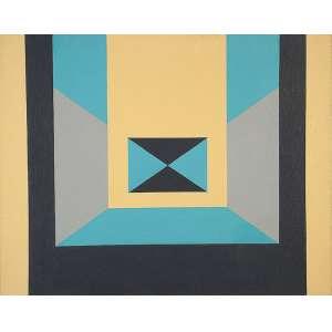 "JANDYRA WATERS - ""Sem título"" - Óleo sobre tela - Ass.dat.1983 no verso. - 40 x 50 cm"