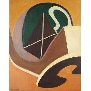 "JANDYRA WATERS - ""Sem título"" - Óleo sobre tela - Ass.dat.1965 esq. - 92 x 73 cm"