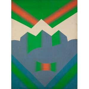 """FERNANDO LEMOS - """"Sem título""""- Óleo sobre tela - Ass.dat.1973 no verso. - 80 x 60 cm"""