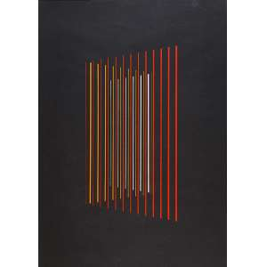 """LOTHAR CHAROUX - """"Sem título"""" - Acrílica sobre papel -Ass. inf. dir. - 70 x 50 cm - Com etiqueta da Galeria de Arte Global. Ex. Coleção Schneider."""