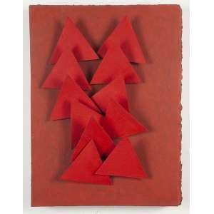 """ARTHUR LUIZ PIZA - """"A 107""""- Incisões e aquarela sobre papel em caixa de acrílico - Ass. tit. no verso. - 38 x 29 cm - Apresenta certificado da Marcia Barroso do Amaral. Apresenta foto no atelier do artista."""