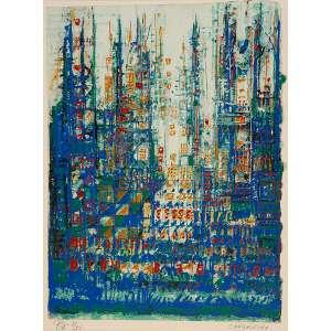 """MANUEL CARGALEIRO - """"Sem título"""" - Serigrafia – P.A. - 11/25 - Ass.inf.dir. - 41 x 30 cm"""