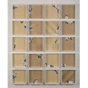 """MAURO PIVA - """"Apoio I"""" - Coleção de 20 desenhos - Aquarela, grafite e nanquim sobre papel - 20 x 20 cm /cada - Com etiqueta da Galeria Fortes Vilaça."""