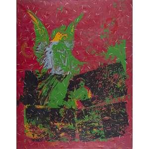 "ALEX FLEMMING - ""Sem título"" - Óleo sobre tela - Ass.dat.1985 no verso. - 177 x 140 cm"