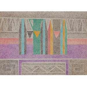 """FERREIRA GULLAR - """"Sem título"""" - Caneta esferográfica sobre cartão - Ass.inf.dir. - 23,5 x 31,5 cm"""