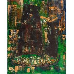 "BERNARD BOUTS - ""Barco com figuras"" - Óleo sobre eucatex - Ass.dat.1968 inf. esq. - 60 x 48 cm"