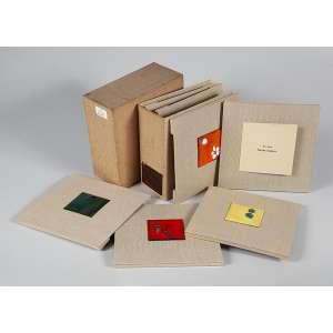 """RENNEÉ SASSON - """"Esmaltes""""- Livro em edição única contendo 6 esmaltes originais - Exemplar 33/50. - 21 x 21cm /cada"""